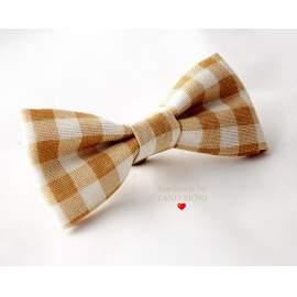 Bow Tie Csokornyakkendő sárga country kockás