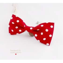 Bow Tie Csokornyakkendő piros nagypöttyös