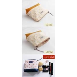 NESZESZER XS sárga virágos mustársárga műbőr díszítéssel (új)