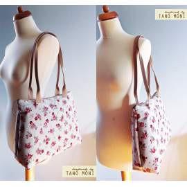 Big Day Bag natur piros kisrózsás táska (új)
