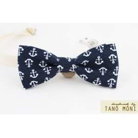 Bow Tie Csokornyakkendő sötétkék horgony mintás  (új)