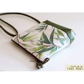 NATURE BAG kistáska fűzöld leveles zöld alj
