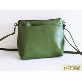 A KIS FEKETE táska zöld színben kézi és átvetős (új)