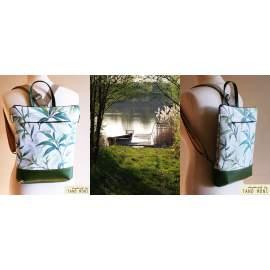 STREET BAG hátizsák és táska zöld leveles zöld aljjal