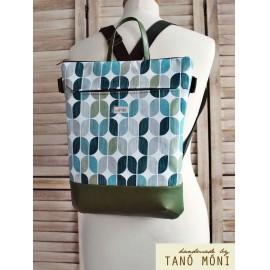 STREET BAG hátizsák és táska retro mintás zöld aljjal