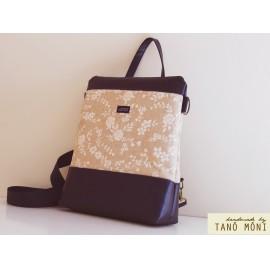 CONFORT BAG hátizsák és táska fehér virágos