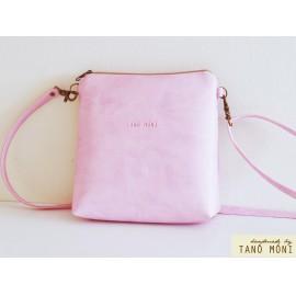 LITTLE BAG rózsaszín műbőrből (új)