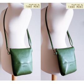 MIDDLE BAG műbőr táska zöld (új)
