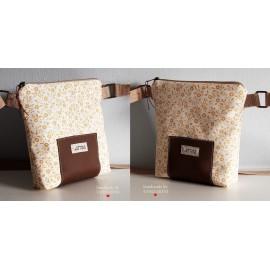 LITTLE BAG textil táska sárga virágos (új)