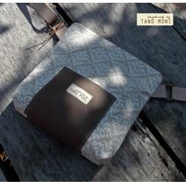 LITTLE BAG textil táska natur fehér barokk (új)