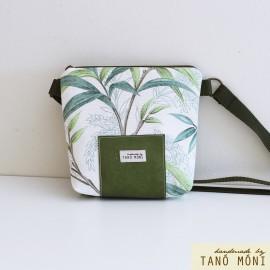 LITTLE BAG textil táska levél mintás zöld (új)