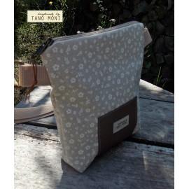 LITTLE BAG textil táska natur fehér kisvirágos (új)
