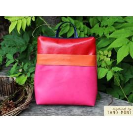 COLOR BAG hátizsák pink narancs piros (új)
