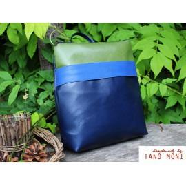 COLOR BAG hátizsák sötétkék királykék zöld (új)