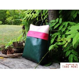 COLOR BAG hátizsák olajzöld pink púder (új)