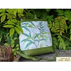 COUNTRY BAG hátizsák és táska zöld leveles zöld (új)
