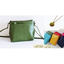 A KIS FEKETE táska szett Zöld (új)