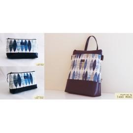 CONFORT BAG táska szett ovál mintás sötétkék