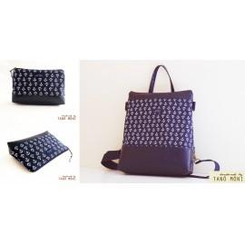 CONFORT BAG táska szett horgony mintás sötétkék (új)
