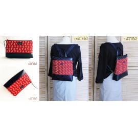 CONFORT BAG táska szett horgony mintás piros (új)