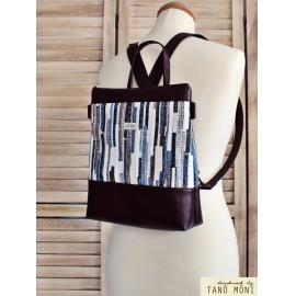 CONFORT BAG hátizsák és táska kék barna csíkos sötétbarna (új)