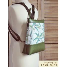 CONFORT BAG hátizsák és táska Levél mintás zöld aljjal (új)