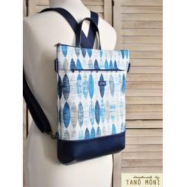 STREET BAG hátizsák és táska ovál mintás sötétkék aljjal  (új)